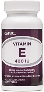 GNC Vitamin E 400 IU, 100 Softgels, Supports a Healthy Cardiovascular System