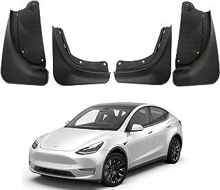 BASENOR Tesla Model Y Mud Flaps Splash Guards (Set of Four) No Need to Drill Holes 2021 Upgraded