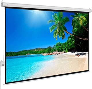 Lovinland Motorized Projector Screen with Remote Control 100 Inch 4:3 Display