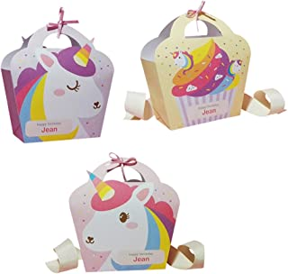 Toyvian 12 Unids Bolsas para Regalo de Unicornio Bolsa de Caramelo Regalo para Fiesta Cumpleaños Unicornio