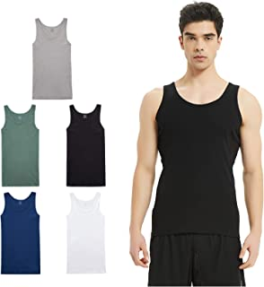 FARCHAT Men Vest Tops 5 Piece Packing Comfortable Cotton Multiple Colors and Sizes