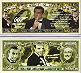 Anime Source Sean Connery as James Bond 007 Series 1960's Commemorative Novelty Million Bill with Semi-Rigid Bill Protector