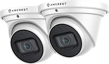 Amcrest UltraHD 4K (8MP) Outdoor Security IP Turret PoE Camera, 3840x2160, 98ft NightVision, 2.8mm Lens, IP67 Weatherproo...