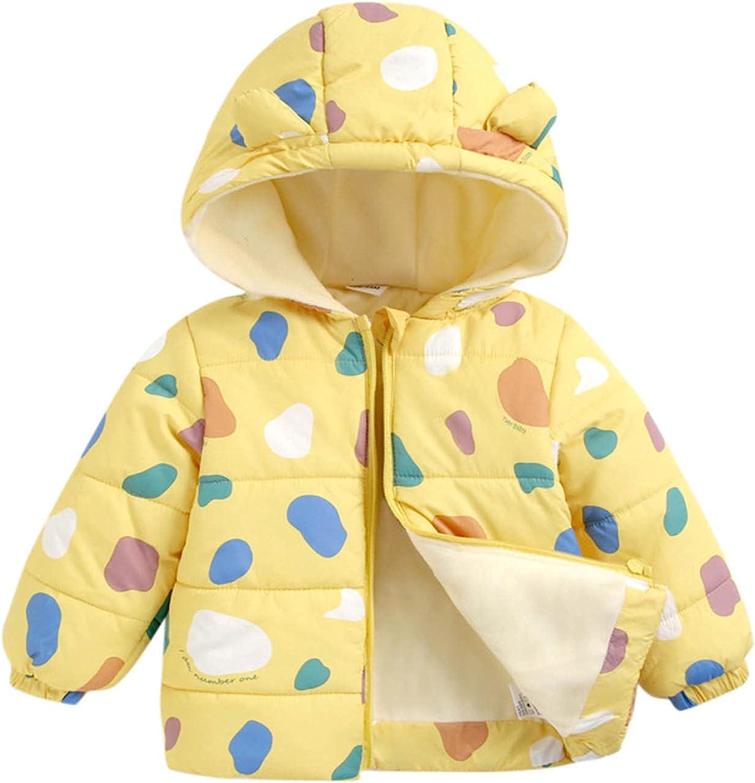 Jchen Girls Boys Fleece Lined Jacket Hooded Outdoor Windbreaker Trench Coat Winter Thicken Hoodies Warm Outerwear Jacket