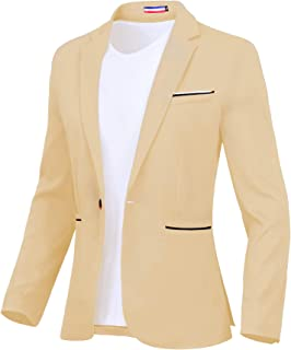 Sponsored Ad - Men's Blazer One Button Slim Fit Lightweight Casual Sports Coat