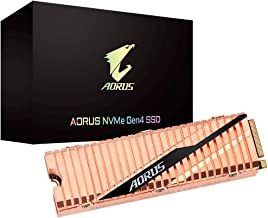Gigabyte AORUS NVMe Gen4 M.2 1TB PCI-Express 4.0 Interface High Performance Gaming, Full Body Copper Heat Spreader, Toshib...