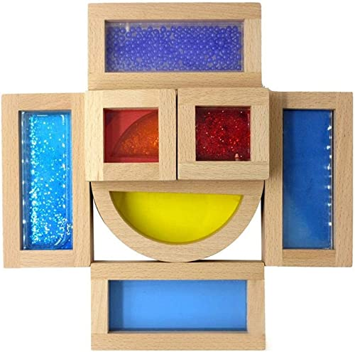Molre-yan L'éducation précoce des Enfants Puzzle Jouet Blocs de Construction Jouet Acrylique Rainbow