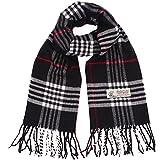 Plaid Cashmere Feel Classic Soft Luxurious Winter Scarf For Men Women (Big Plaid Camel)
