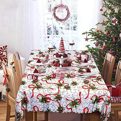 GGreenary Nieuwjaar Tafelkleed Kerstmis Plastic Rechthoekige Tafelkleed Tafelkleden Huis Kerst Decoratie 175 * 145cm