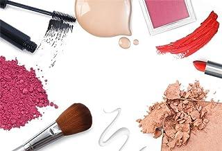 AOFOTO 7x5ft Fashion Makeup Set Backdrop Trendy Girl Beauty Photography Background Cosmetics Blogger Live Video Banner Pow...