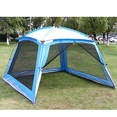 3m Garden Gazebo with Insect Mesh Sides,Heavy Duty Gazebo Waterproof Tent Party Pavilion Barbecue with A Zipped Door,A