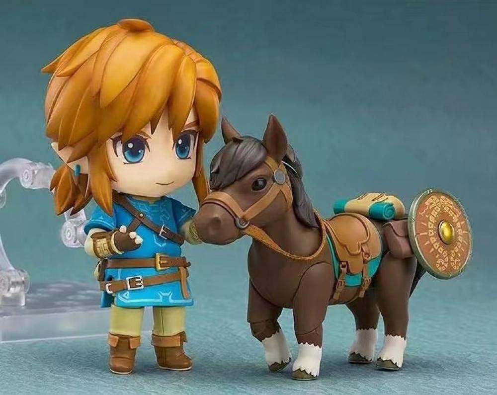 HQYCJYOE Personajes de Anime Modelo Zelda Caballo Breath of The Wild Link Figuras de acción Juguetes colección de estatuillas muñeca 10cm