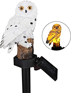 LED Solar Lights Garden Stake Lights Owl Shape Solar Powered LED Lamp Pathway Walkway Lawn Patio Backyard Lighting Outdoor...