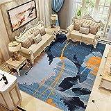 azul Alfombra Cuarto Nueva sala de estar del estilo que imprime...