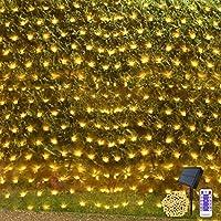 Solar Net String Lights 4.5 x 1.5m Mesh Tree wrap Fairy Light Garden Twinkle Lights with Remote