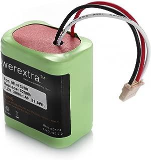 Powerextra High Capacity 7.2V 3000mAh Ni-MH iRobot Mint 5200 Vacuum Cleaner Replacement Battery for iRobot Braava 380, 380T, Mint 5200, 5200B, 5200C Floor Mopping Robots