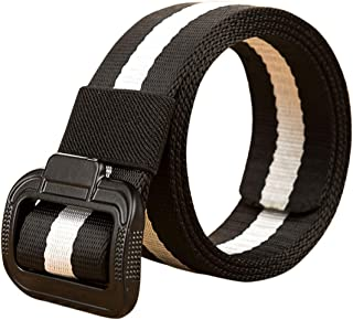 Fulision men military belts waist belt adjustable military style men's adjustable man woven belt trouser belt with alloy buckle