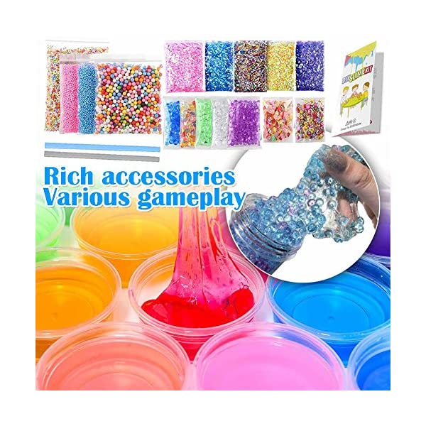 ESSENSON Slime Kit - Slime Supplies Slime Making Kit for Girls Boys, Kids Art Craft, Crystal Clear Slime, Glitter, Slime… 10