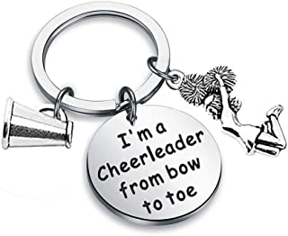 Zuo Bao Cheer Jewelry Cheerleader Keychain I'm A Cheerleader from Bow to Toe Gifts for Cheerleader and Cheer Coaches