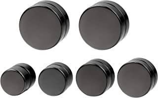 8pcs Men Women Teens Kids 6-12MM Stainless Steel Fake Gauges Non-Pierced Magnetic Illusion Tunnel Earring Studs for Men Women