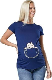 085p Happy Mama Para Mujer Camiseta premam/á con estampado de esqueleto
