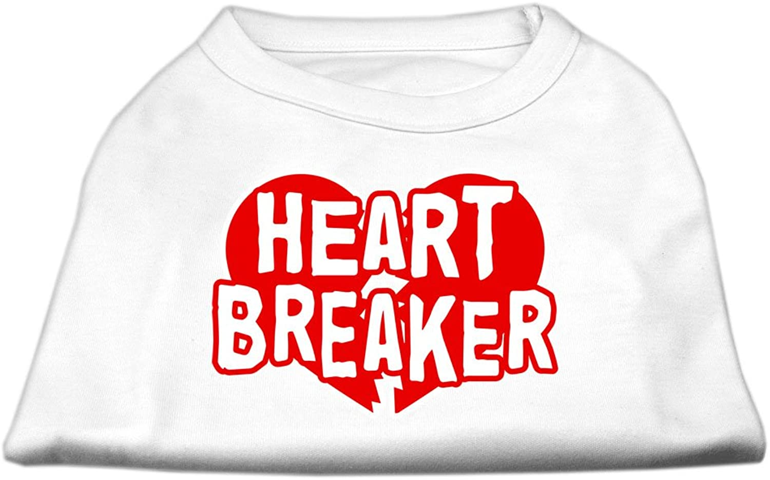 Dog   Cat   Pet Charms Heart Breaker Screen Print Shirt White XL (16)