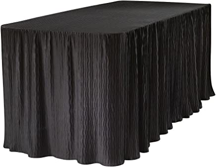 6 Foot Folding Table Cloth Black 30x72x29