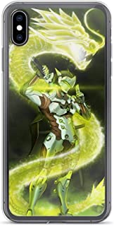 Gryss Compatible with iPhone 6/6s Case Overwatch Genji Dragon Shooter Game Pure Clear Phone Cases Cover