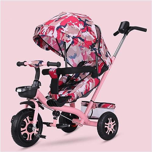 marca de lujo YINGH Triciclo Trike Trike Trike para Niños con cinturón de 3 Puntos, Frenos, Silla Inclinada Que Puede Dormir, toldo y Bolsa de Almacenamiento, 4 en 1 triciclos para Niños de 6 Meses a 5 años  los últimos modelos