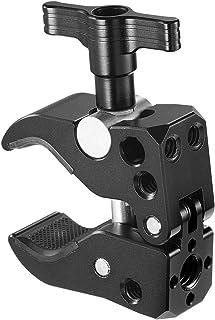 SMALLRIG Morsetto Super Clamp con Fori Filettati da 1/4 Pollici, Super Clamp con Apre la Mascella da 10 a 55 mm - 2220