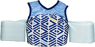 Little Fin Swimmer Float Vest for Pool, Blue, Aqua Kids Life Jacket from 30 to 50lbs, Toddler Swim Vest with Arm Wings Boys NOAH Swimmer