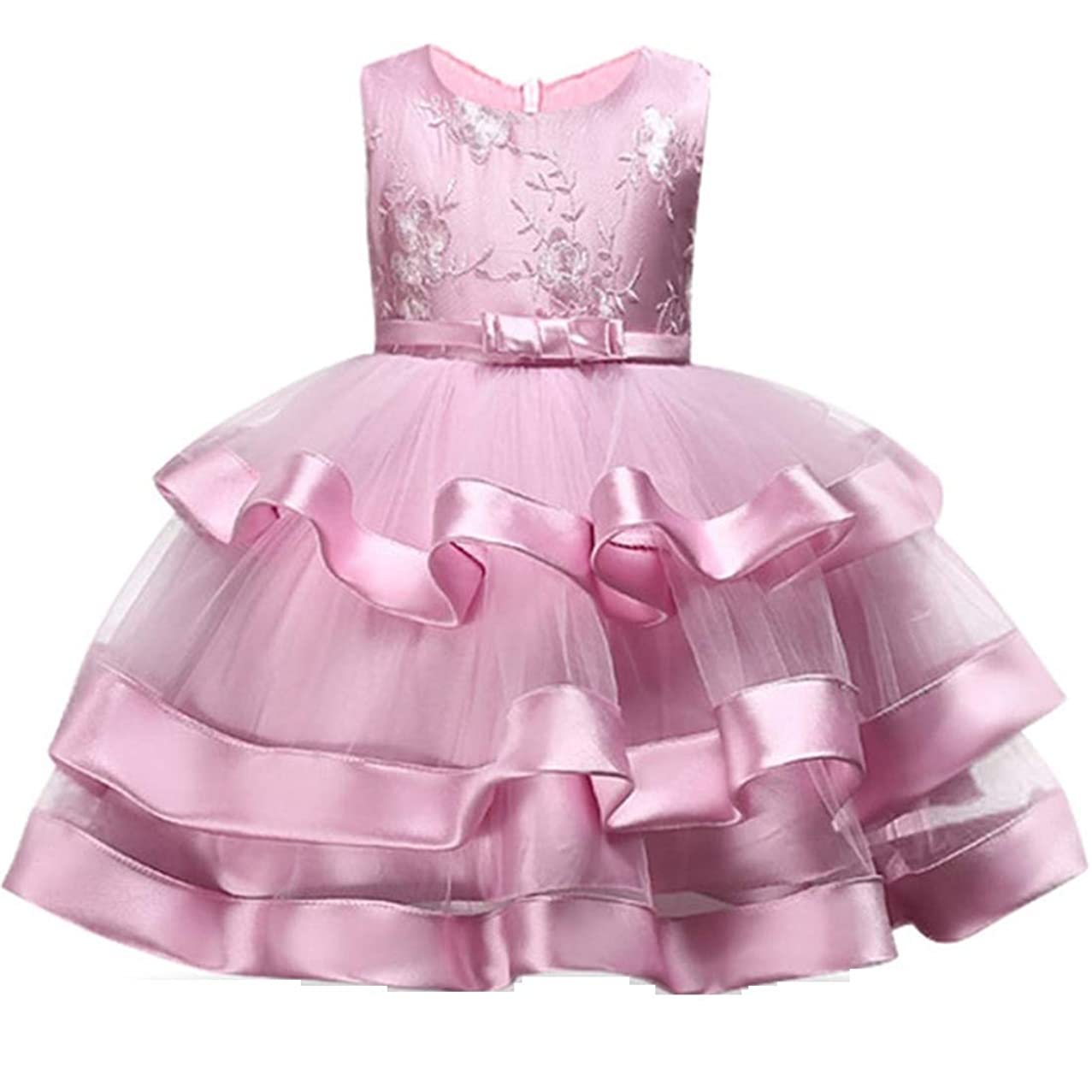 2-10T Flower Girls Dress Little Kids Ruffles Lace Party Wedding Dresses