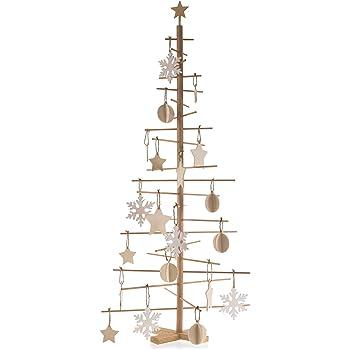 Alberi Di Natale In Legno.Papa Noel Albero Di Natale In Legno Naturale Moderno Stilizzato Minimal Misure28 X 28 X 55 Cm Senza Addobbi Amazon It Casa E Cucina