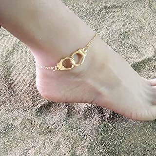 Jovono Anklet Bracelet Beach Foot Dragonfly Dose Jewelry Bells Handcuffs Anklet for Women and Girls (Gold)