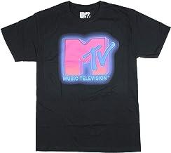 Seven Times Six MTV Men's Music Television Vivid Neon Logo T-Shirt