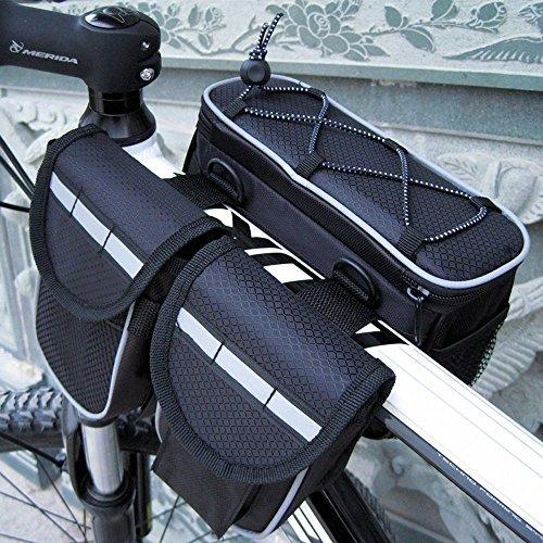 ミカソ(Mekarsoo)自転車用バッグ フロントバッグ ハンドルバーバッグ フレームバッグ 防水 小物を収納可...