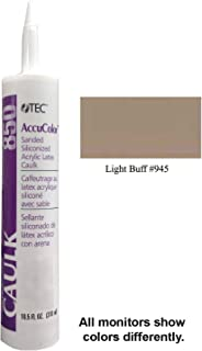 Tec Accucolor Sanded Siliconized Acrylic Latex Caulk 945 Light Buff