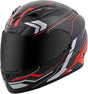 ScorpionExo EXO-R710 Unisex-Adult Full-Face-Style Transect Helmet (Red, Large)