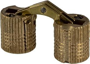Gedotec Inboorscharnier Zysa meubelscharnier messing | inboorband voor houtdikte 17-22 mm | kastscharnier rond voor boor-...