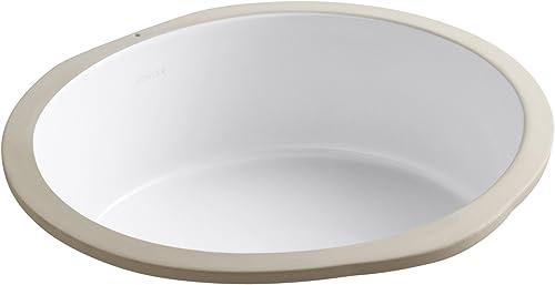 discount KOHLER lowest K-2883-0 Verticyl Round Undercounter Bathroom 2021 Sink, White online