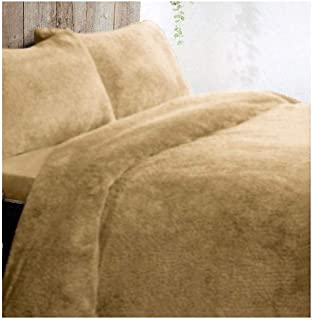 Thermal Warm Bedding Cover Set Luxury Teddy Fleece Duvet Cover with Pillow Case (Duvet Set White Single)