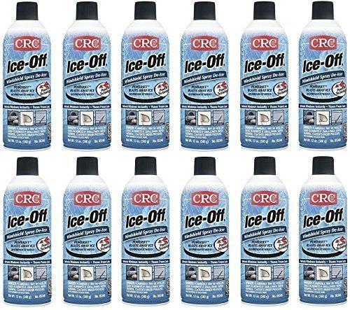 CRC 05346 Ice-Off Windshield Spray De-Icer, 12 Wt. oz, 12 Bottles (Case)