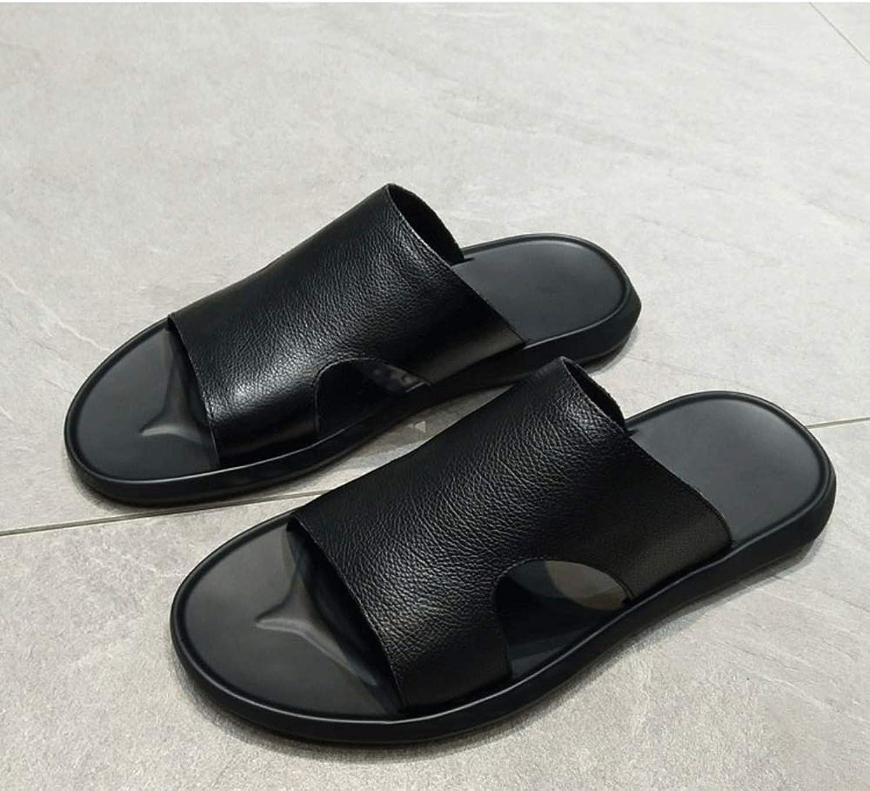 XHHXPY Herren Bequeme Sandalen Herren Sommermode tragen EIN Wort Drag Trend Herren Outdoor Casual Sandalen Herren Coole Schuhe