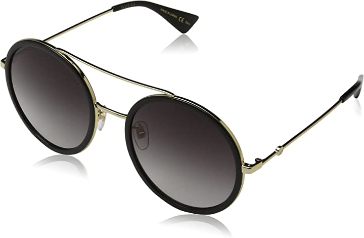 Occhiali donna gucci gg0061s 001 occhiali da sole, oro (gold/grey), 56 donna GG0061S-001-56