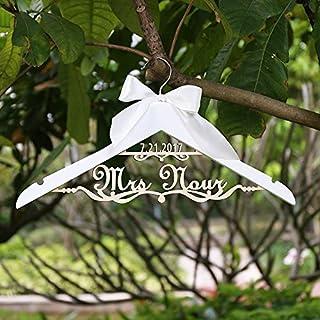 Custom percha percha de, para novia), con nombre y fecha de boda, personalizable para boda vestidos de novia percha para ducha