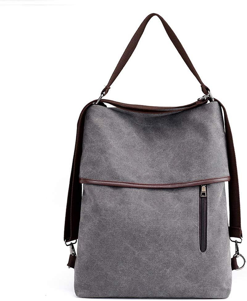Women Ladies Canvas Backpack Vintage Travel School Shoulder Top Handle Hobo Bag