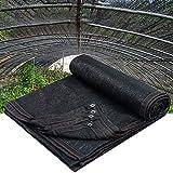 90% Tela De Sombra Sombrilla Paño con Borde Encintado con Arandelas Sombra De Malla De Protección Solar para Toldo con Cubierta De Pérgola, Negro(Size:2 * 4)