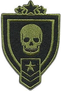 calavera Ejército insignias militares - Parches termoadhesivos bordados aplique para ropa, tamaño: 5 x 7,1 cm
