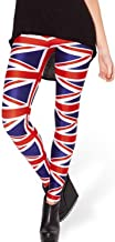 Lady Queen Women's Basic Union Jack Print Stretch Skinny Leggings Pants