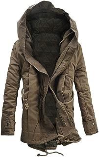 Cappotto da Uomo in Cotone Militare Monocromo Colletto Coreana con Grandi Tasche per Outdoor Giacca per Autunno